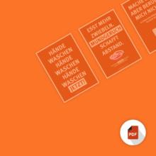 Hygiene während Corona Krise Kampagne PDF Download