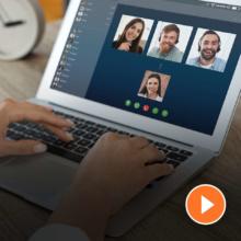 Videokonferenz mit Zoom und Co.