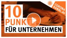 Coronakanal.de 10 Punkte für Unternehmen