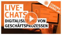 Live-Chats Digitalisierung von Geschäftsprozessen