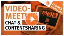 Coronakanal.de Videokonferenz mit Chat und Contentsharing