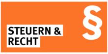 Steuern und Recht Icon orange