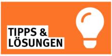 Tipps und Lösungen Icon Orange