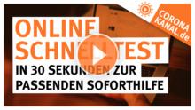 Coronakanal.de Online Schnelltest in 30 Sekunden zur passenden Soforthilfe